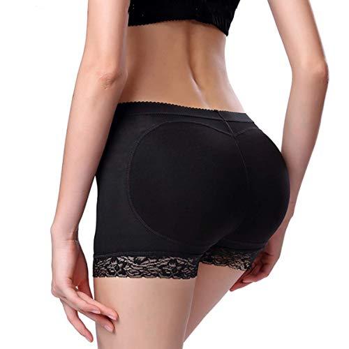 Seamless Butt Lifter,Panty Enhancer Underwear for 360 Firm Control,Elegant Women Choice (Large, Black)