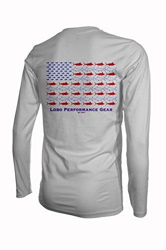 Lobo Performance Gear Mark Ray UPF 50 Dri Fit Long Sleeve Fishing Shirt (Large, -
