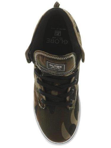 Globo Motley Mid hombre verde camuflaje 19161 UK 4 zapatillas de Skate