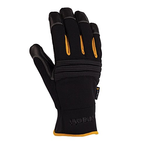 Carhartt Men's Winter Dex Kevlar Reinforced Spandex Work Glove, Black, (Carhartt Leather Waterproof Glove)