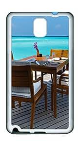 Samsung Note 3 CaseMaldives Dinner Table TPU Custom Samsung Note 3 Case Cover White