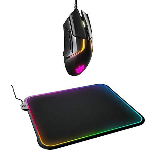 SteelSeries Rival 600 Mouse and QcK Prism Mousepad Bundle