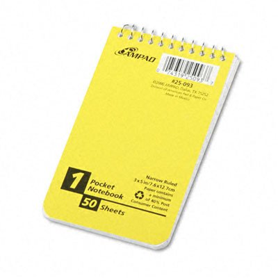 Recycled Memo Books in White [Set of 4] Size: 3'' W x 5'' D