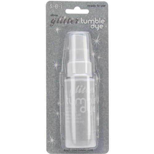 Silver 2 Oz Spray Bottle (Sew Easy Industries Tumble-Dye Glitter Spray Bottle, 2-Ounce, Silver)