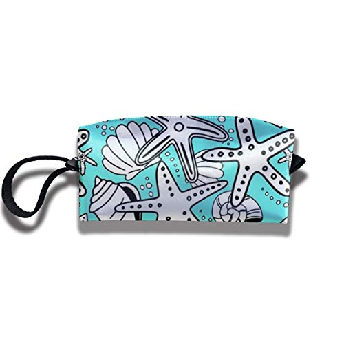 Travel Toiletry Pouch Starfish Shaving Kit Make-up Bag with Handle,Portable Organizer Receive Cosmetic Storage Case for Women and Men ()