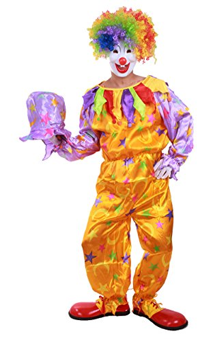 [Honeystore Unisex Halloween Costumes Onesies Jester Cute Clown Outfits with Hat] (Cute Couples Halloween Outfits)