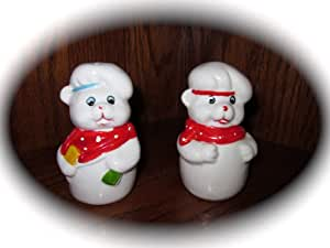 "Set of Vintage Ceramic Pig Salt & Pepper Shakers (Approx 3.5"" Tall)"