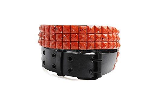 Unisex 105cm 3 Row Orange Splatter Studd - White 3 Row Pyramid Stud Shopping Results