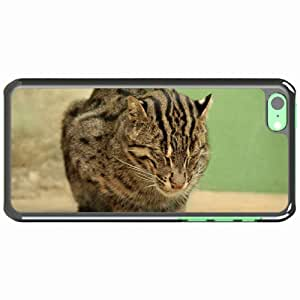 iPhone 5C Black Hardshell Case fisher sit stay spotted Desin Images Protector Back Cover