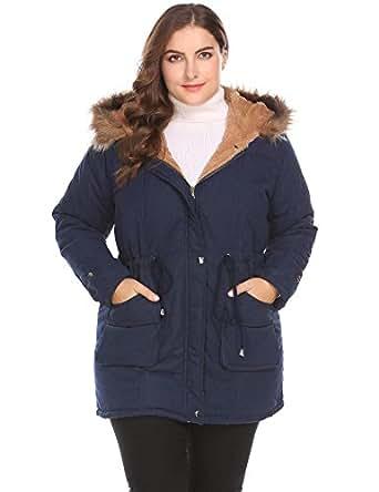 Amazon.com: Flyerstoy Women's Plus Size Parkas Jacket
