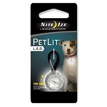 Nite Ize NI-PCL02-03-02JE PetLit LED Collar Light White LED, Jewel Crystal