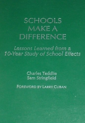 Schools Make a Difference: Lessons Learned from a 10-Year Study of School Effects
