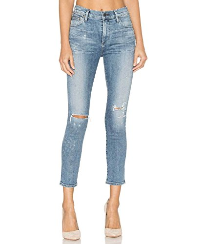 (Citizens of Humanity Women's Rocket, High Rise Skinny Crop- Distressed Fizzle (32))
