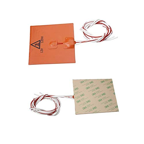 120x120mm 12V 120W Silicone Heated Bed Heating Pad For 3D Printer