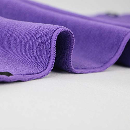 Amazon.com: Microfiber Sports Towel with Zipper Pocket Quick Dry Toallas for Running Camping Hiking Yoga Gym Golf (Purple): Arts, Crafts & Sewing