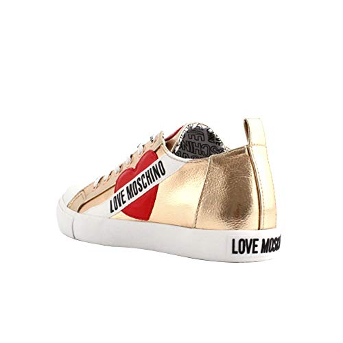 sneakers da Moschino in Love donna rosso rame 0qTEx5