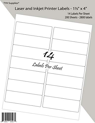 TYH Supplies Address Labels 1-1/3