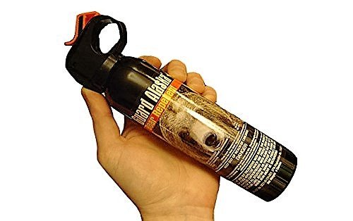 Guard Alaska (Pack of 4) 9 oz. Bear Spray Repellent Firemaster Canister & (Pack of 4) Pepper Enforcement Metal Belt Clip Holsters
