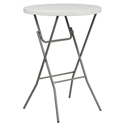 32'' Round Granite Plastic Bar Height Folding Table