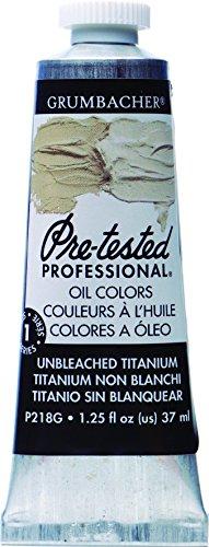 grumbacher-pre-tested-oil-paint-37ml-125-ounce-unbleached-titanium-white-p218g