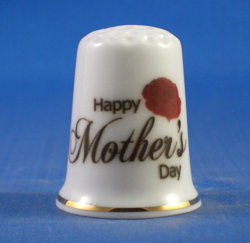 Day Collectible - Porcelain China Collectable Thimble - Mothers Day -- Free Gift Box