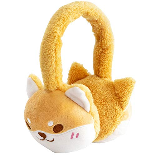 Cute Cat Costumes For Teens (YOMORIO Womens Anime Cosplay Costume Cute Faux Fur Earmuffs Lolita Kawaii Cat Ear Hair Hoop for Girls (Dog)