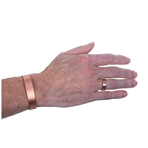 The Original Pure Copper Magnetic Ring and Bracelet Set for Joint Pain Relief – Slim Minimalist Style – Adjustable – For… Alternative Medicine [tag]