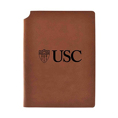 1/2 College Rule 80 Sheets - University of Southern California Velour Journal with Pen Holder|Carbon Etched|Officially Licensed Collegiate Journal|