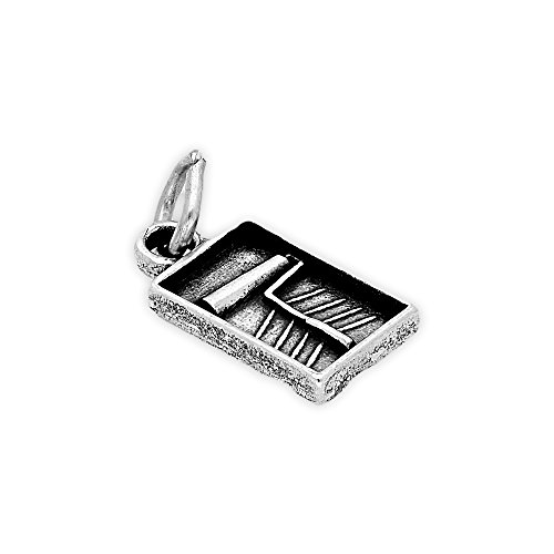 TheCharmWorks Sterling Silver Paint Roller & Brush Charm ()