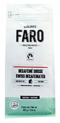 Faro Roasting House Swiss Decaffeinated Filter Grind Coffee 10oz, Medium Roast Organic and Fair Trade Ground Coffee, Swiss Water Decaf - Premium Fresh Decaffeinated Coffee (10 Ounce Bag)