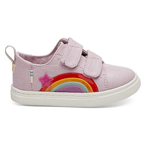 TOMS Kids Baby Girl's Lenny (Toddler/Little Kid) Burnished Lilac Star Rainbow Canvas/Translucent 8 M US Toddler -