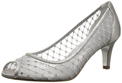 Adrianna Papell Women's Jamie Dress Pump, Silver Mesh, 7 M US