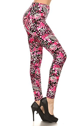 Leggings Depot Ultra Soft Women's Popular BEST Printed REGULAR and PLUS Size Fashion Leggings Batch18 (One Size (Size 0-12), (Bubble Hit Halloween)