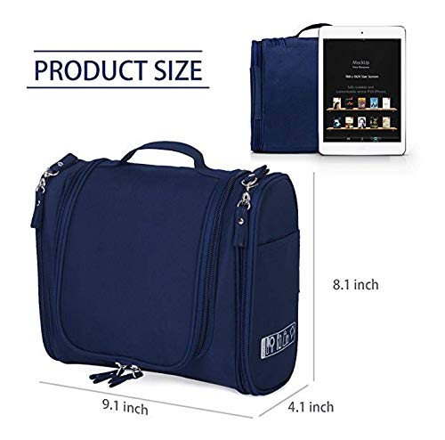 41VDEr%2BbwhL EAYIRA Fabric Toiletry Bag (Navy Blue_TSB-7_10)