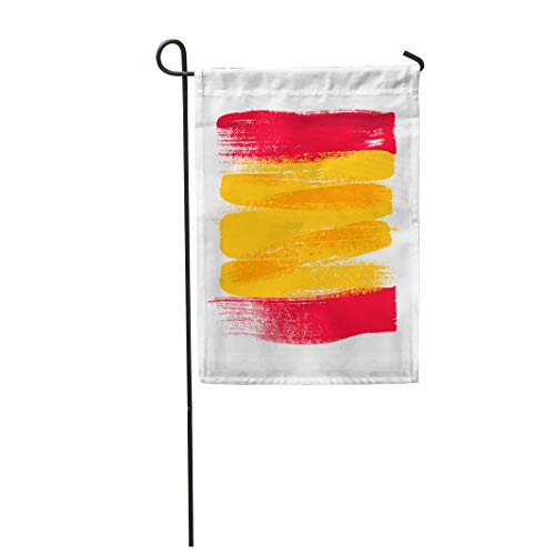 Semtomn Garden Flag Watercolor Spanish Spain Colorful Brush Strokes National Country Flag 28