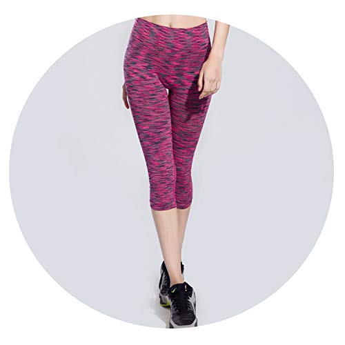(Charm temptation Women's Pants Spring Summer Fitness Sports Cropped Tight Breathable Quick Dry Running Leggings,M Pink)