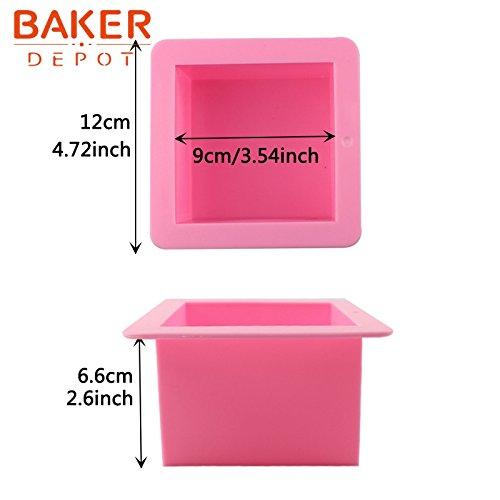 BAKER DEPOT 500ML Molde de silicona para el molde de jabón hecho a mano Molde del molde del pan del molde de la tostada, sistema de 2: Amazon.es: Hogar