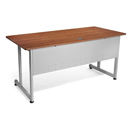 OFM Modular Training Desk With Wheels - Contemporary Durable Office Table, Cherry, 30