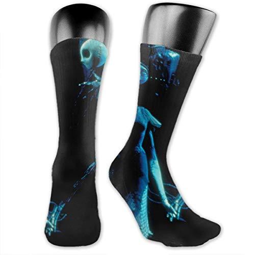 Black Jack Skellington Unisex Cushion Crew Socks Tube Socks Compress Socks New Middle High ()