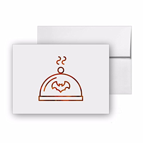 Halloween Meal Feast Roast Party Halloween, Blank Card Invitation Pack, 15 cards at 4x6, with White Envelopes, Item -