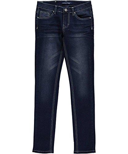 "Vigoss Big Girls' ""Midnight Rose"" Skinny Jeans - dark blue wash, 10"