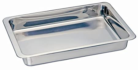 Kitchen Supply Stainless Steel Cake/Lasagna Pan, 13-Inch by 9-Inch 3522