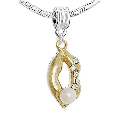 Sexy paillettes femmes de lèvres Dangle Charm pour bracelets chaîne serpent