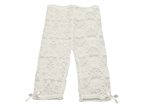 Baby Emporio-Baby & Toddler Girl Lace Leggings-Satin Bows-Gift Bag-6-12M Cream ()