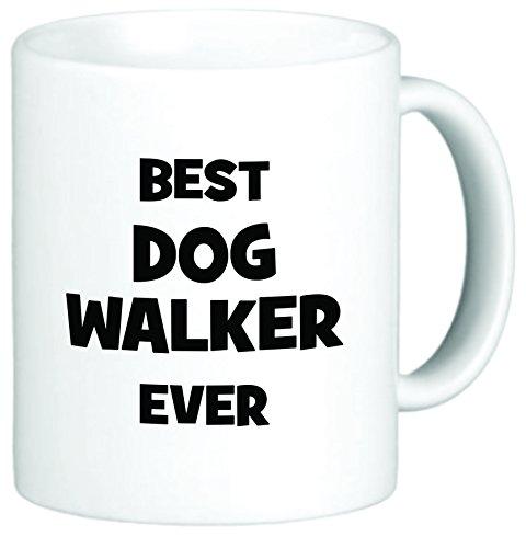 Rikki Knight Best Dog Walker Ever 11 oz Ceramic Coffee Mug ()