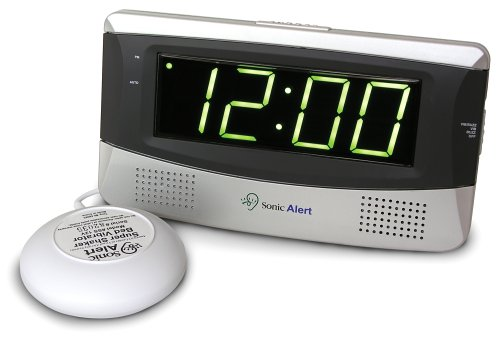 Bay Boca (Sonic Alert SB300SS Sonic Boom Loud Vibrating Alarm Clock with Large Display)