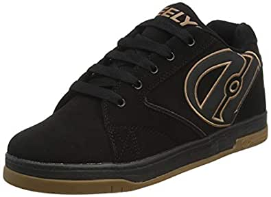 Heelys Propel 2.0 Skate Shoe (Little Kid/Big Kid),Black/Gum,4 M US Big Kid