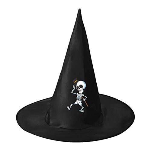 Skeleton Jazz Dancing Children Adult Halloween Hat Cap Costume Party Carnivals
