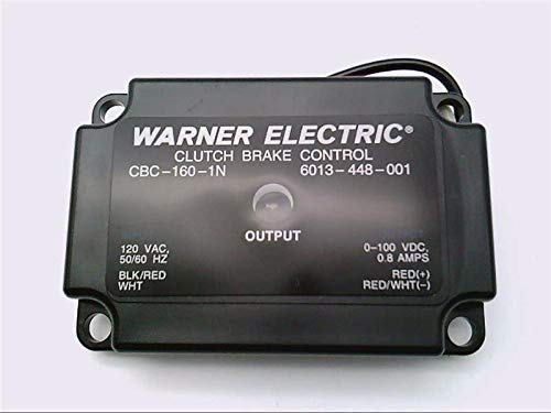 Warner Electric 6013-448-001 CBC-160-1N, Clutch Brake Control, ON/Off Control, 120VAC, 0.8AMPS MAX