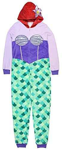 Richard Leeds Intl The Little Mermaid Ariel Womens Minky Union Suit Pajama
